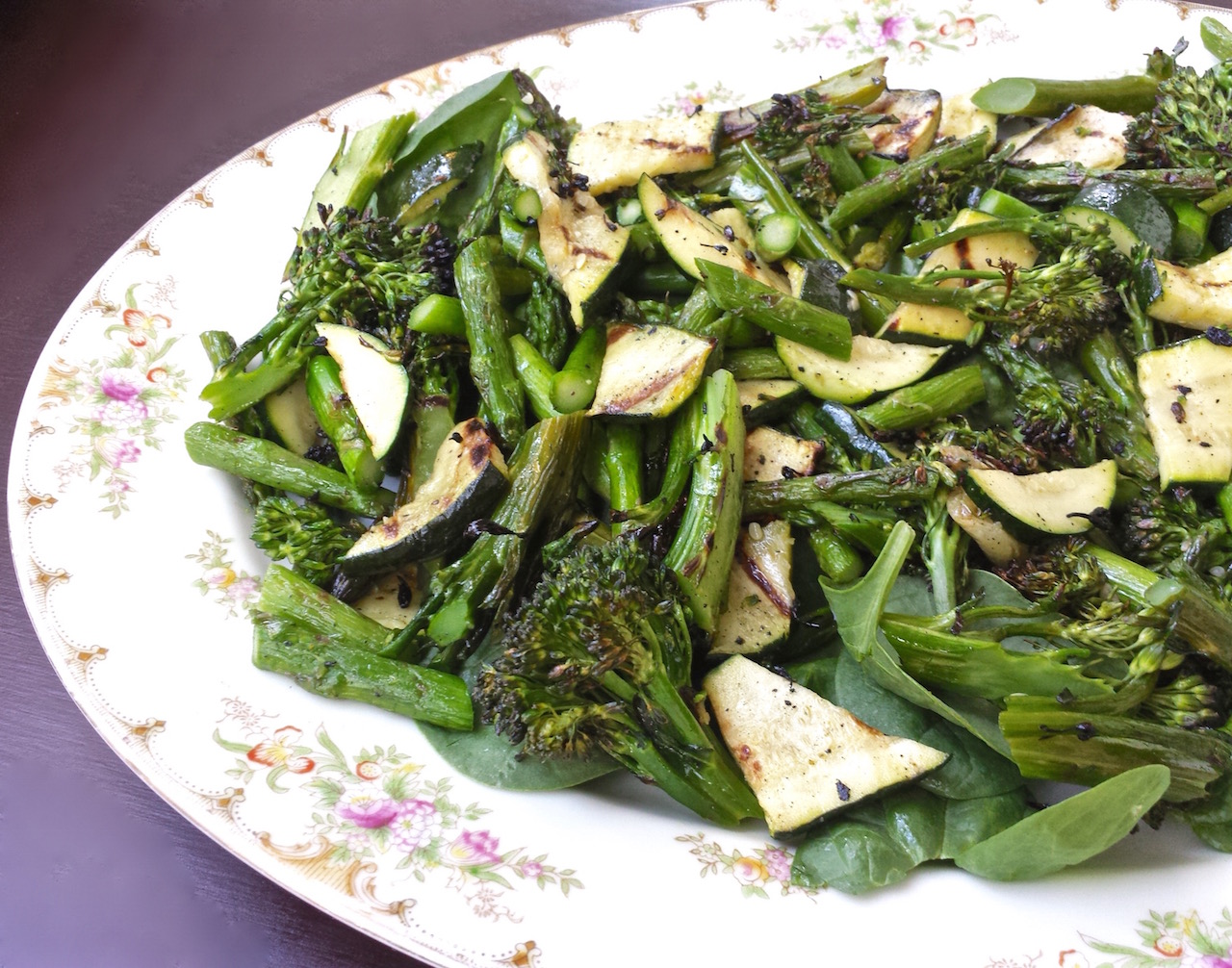 Grilled Green Vegetable Salad