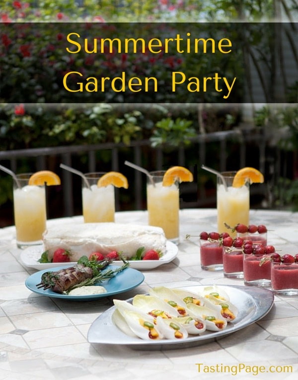 Summertime Garden Party - 5 recipes for a fabulous summer soiree | TastingPage.com