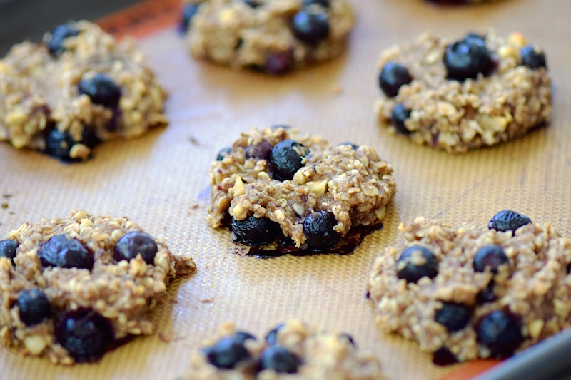 Banana Blueberry Breakfast Cookies