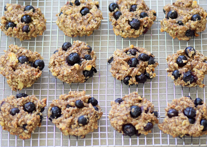 Healthy Banana Blueberry Cookies