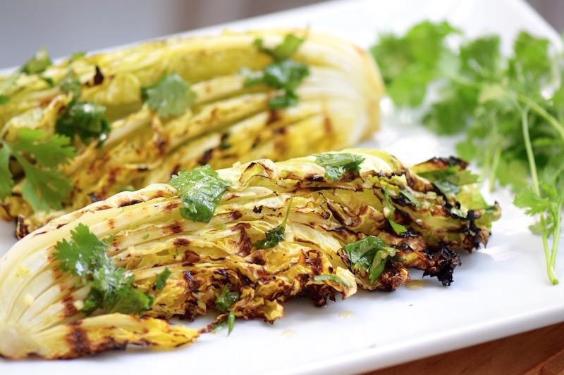 Asian Grilled Napa Cabbage | TastingPage.com