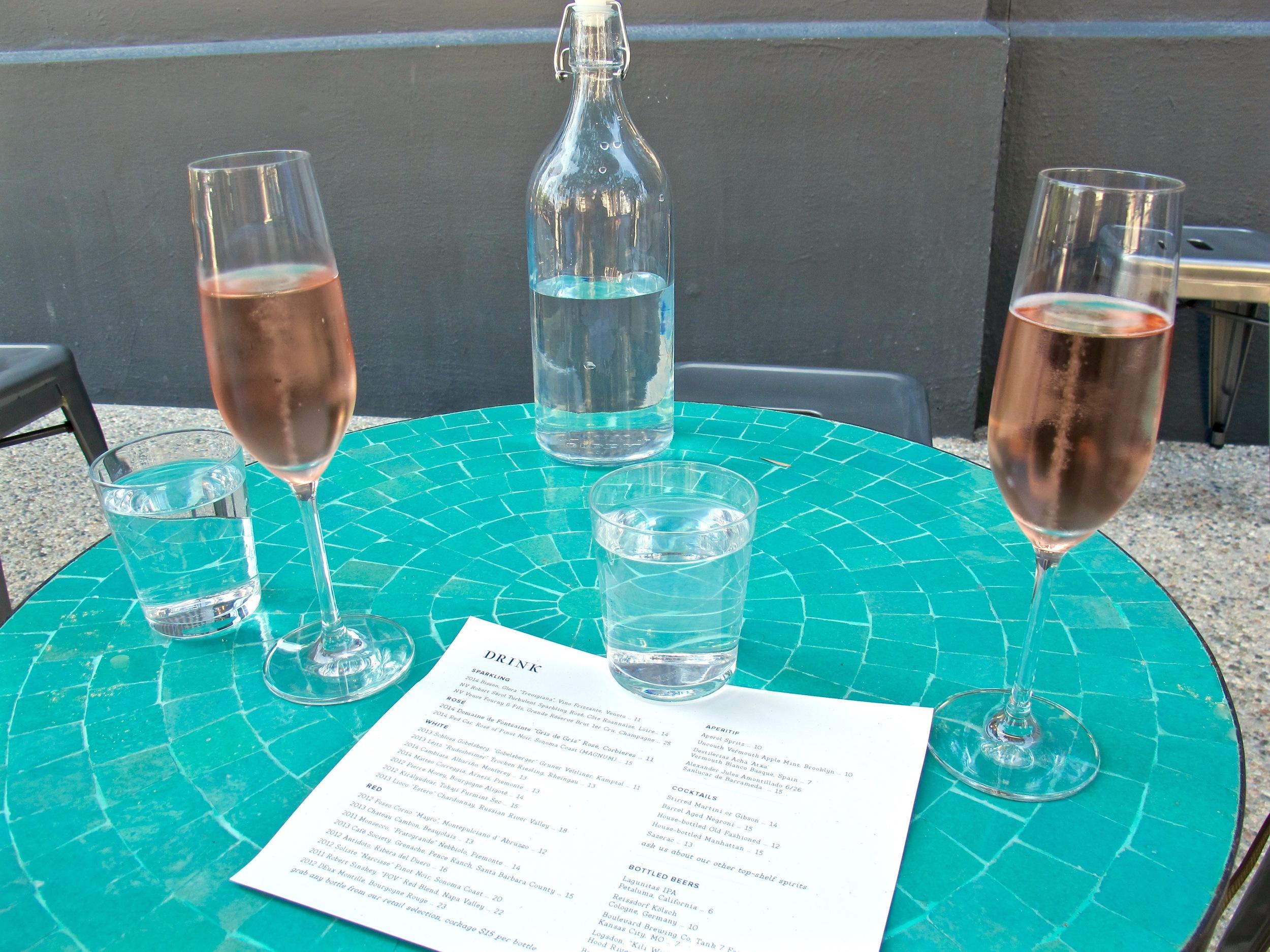 Esters sparkling wine