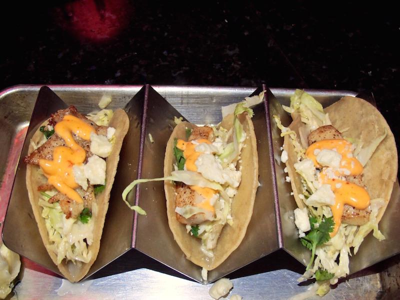 Vineyard Lounge fish tacos