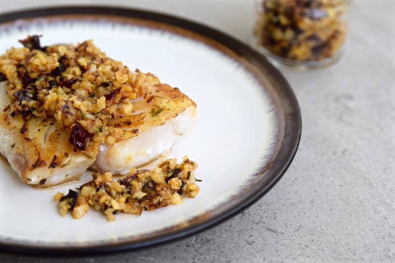 Spicy Garlic Chutney with Cod