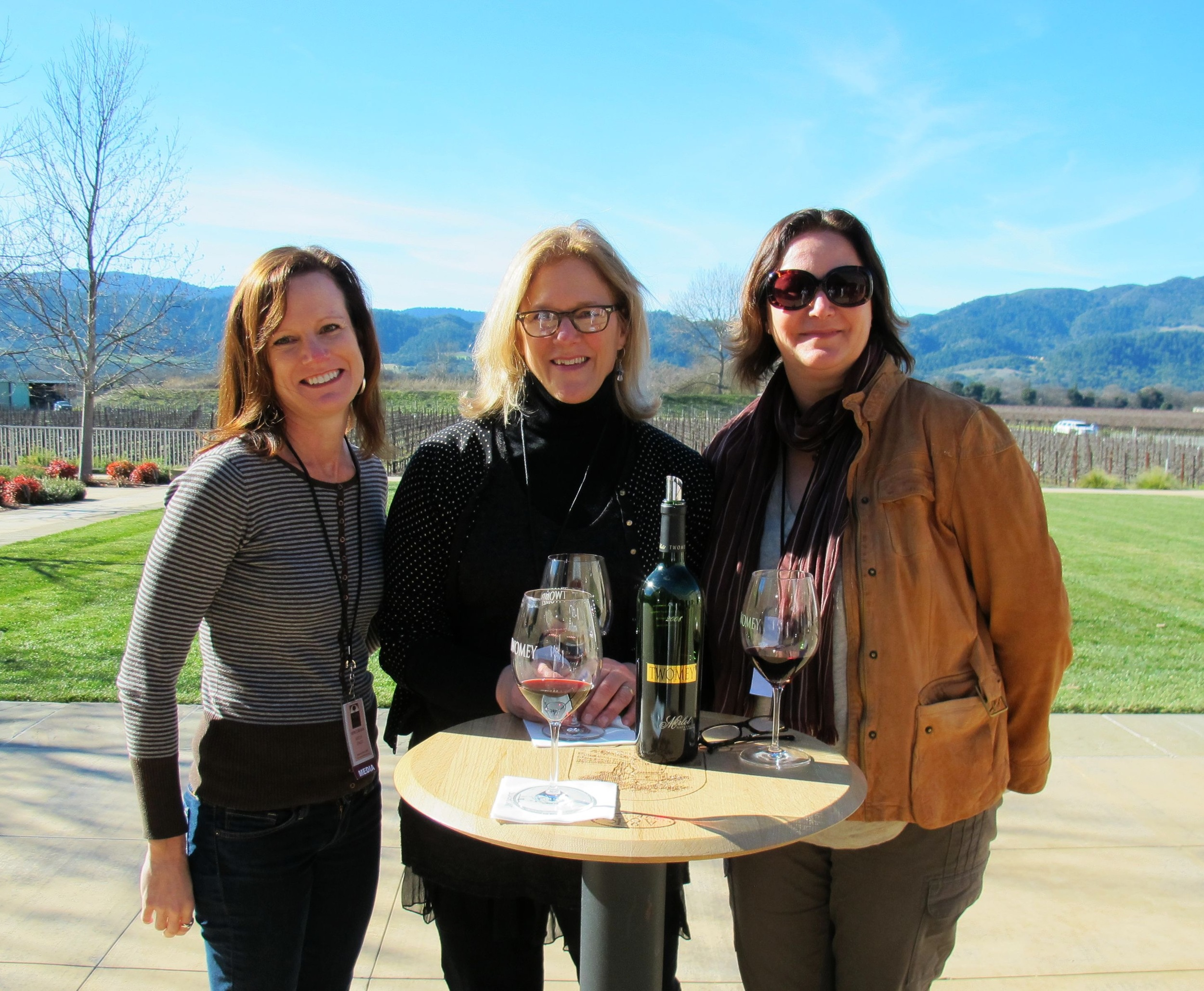 Wine tasting with Doni Belau (far right) in Napa Valley
