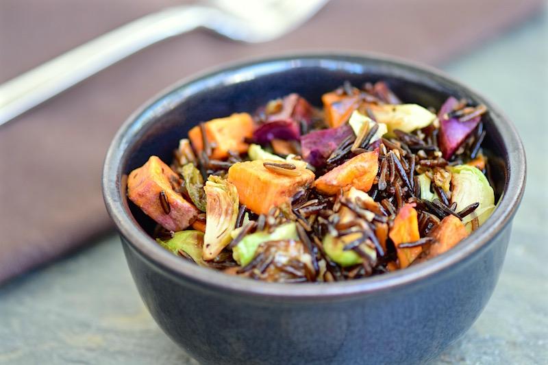 Fall Veggie Wild Rice | TastingPage.com