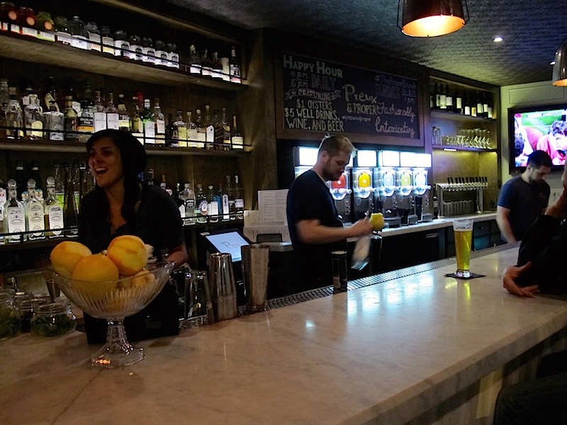 Preux and Proper downstairs bar