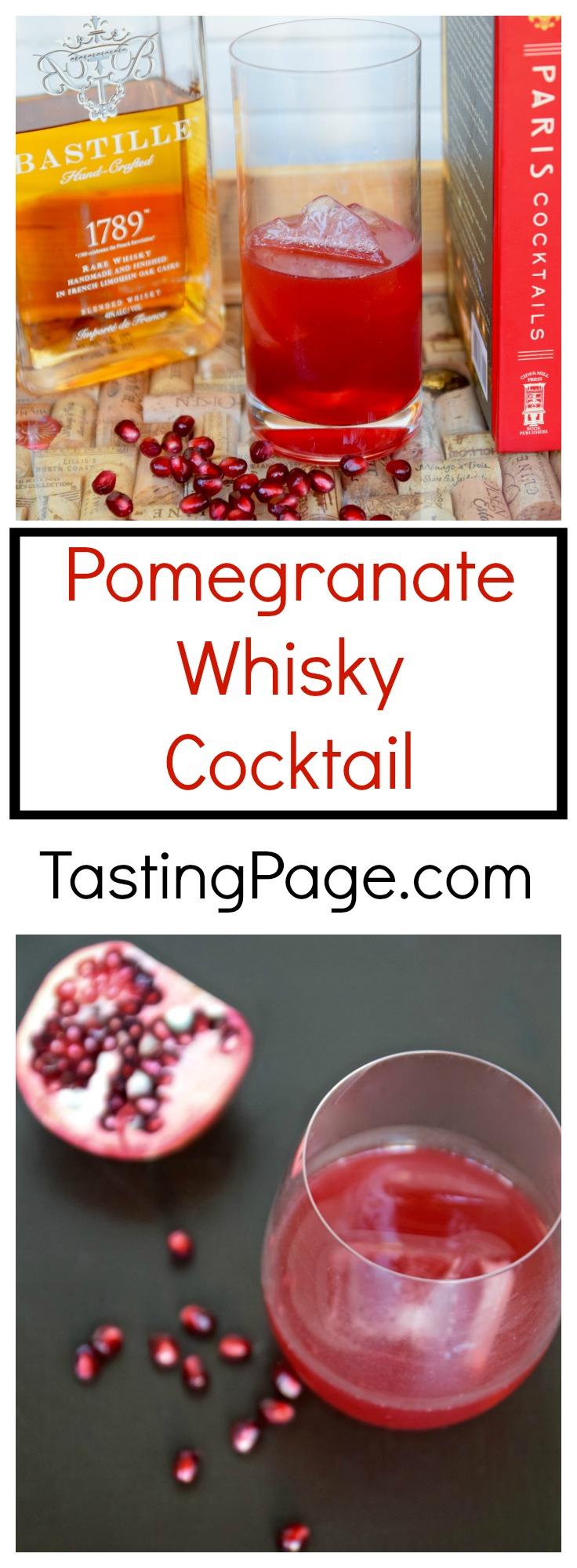 Pomegranate Whisky Cocktail | TastingPage.com