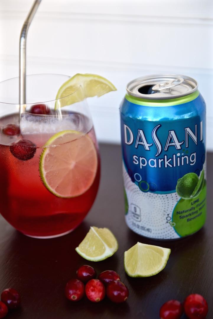 Cranberry Lime Sparkling Drink