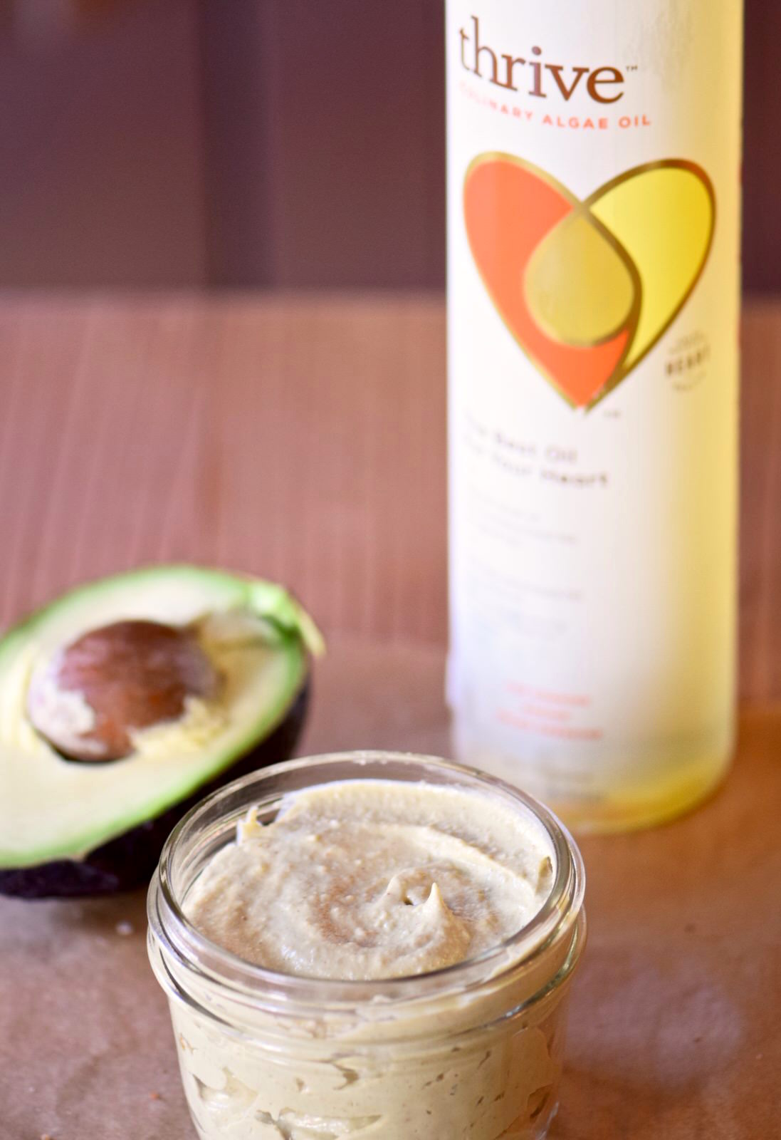 Avocado Tahini Sauce with Thrive Algae Oil