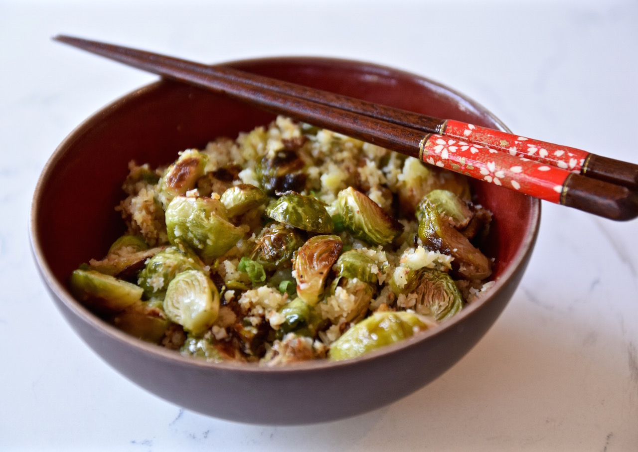 Brussels Sprouts Cauliflower Fried Rice