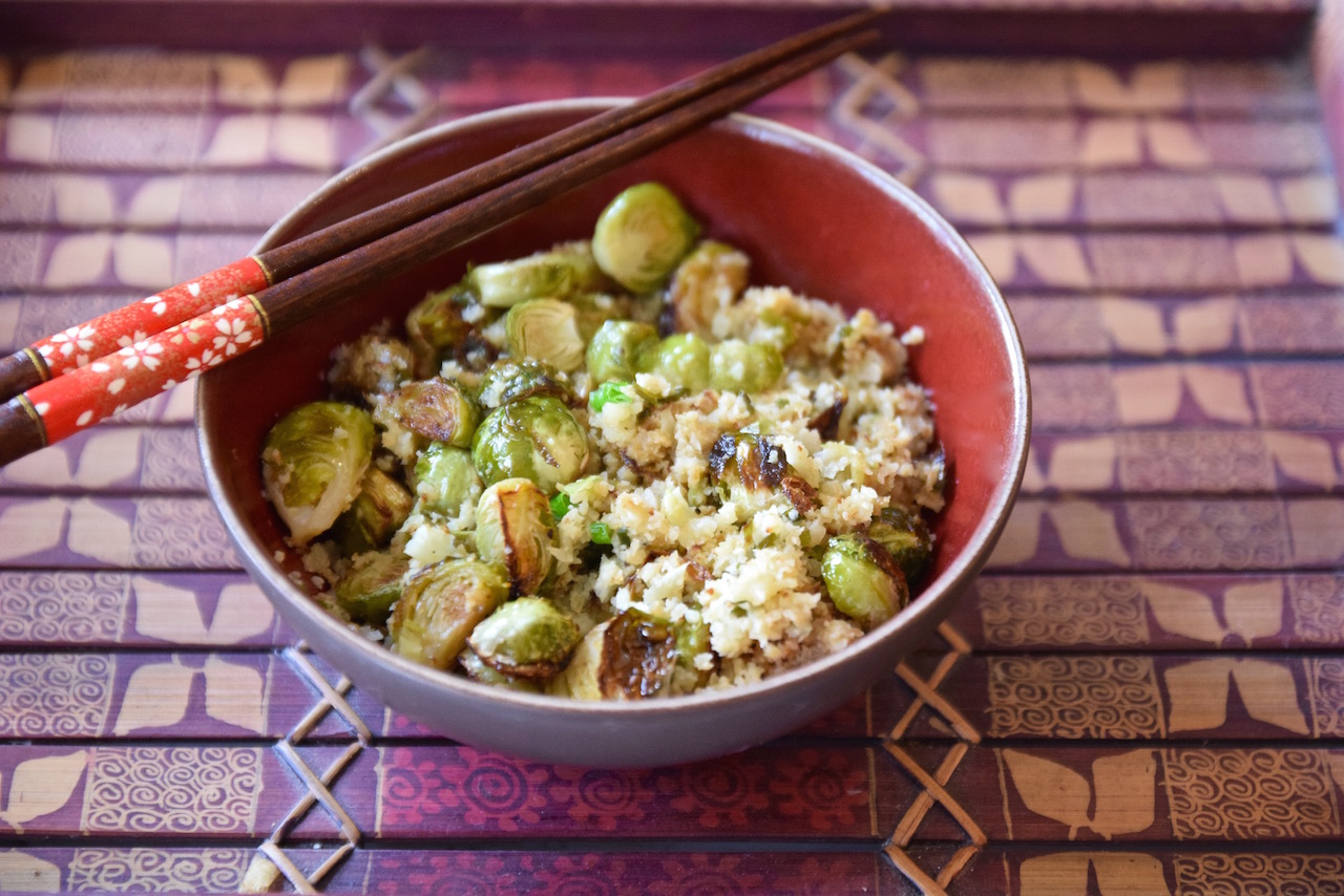 Asian Brussels Sprout Cauliflower Rice