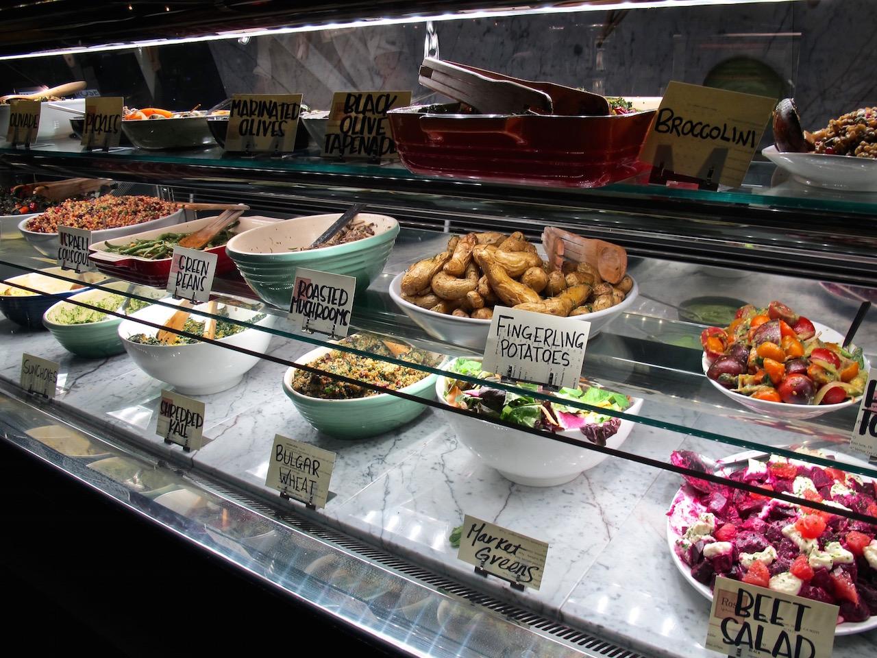 Rose Venice Cafe salad counter