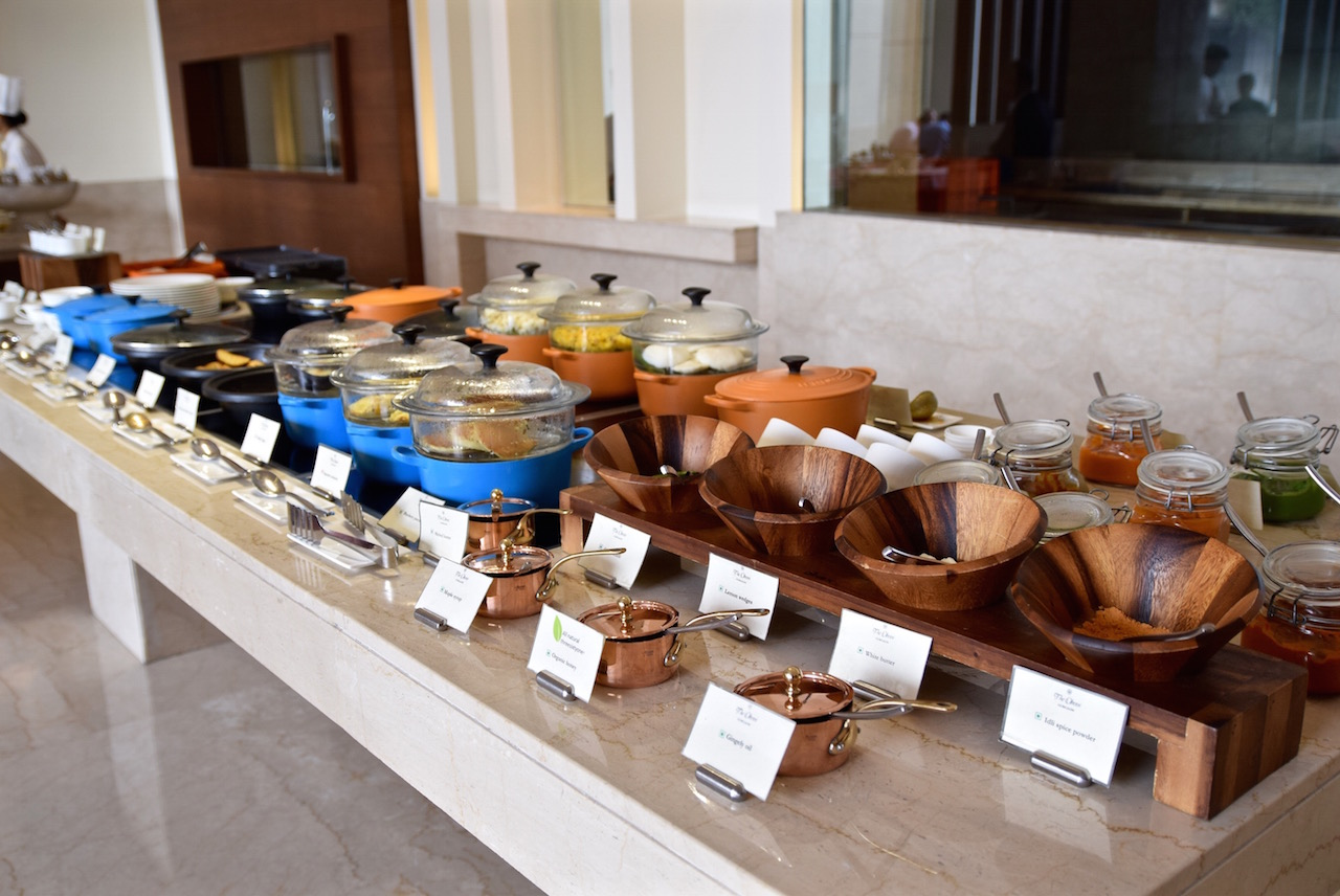 Oberoi India breakfast