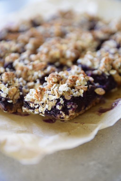 Tea Party Banana Blueberry Oat Bars