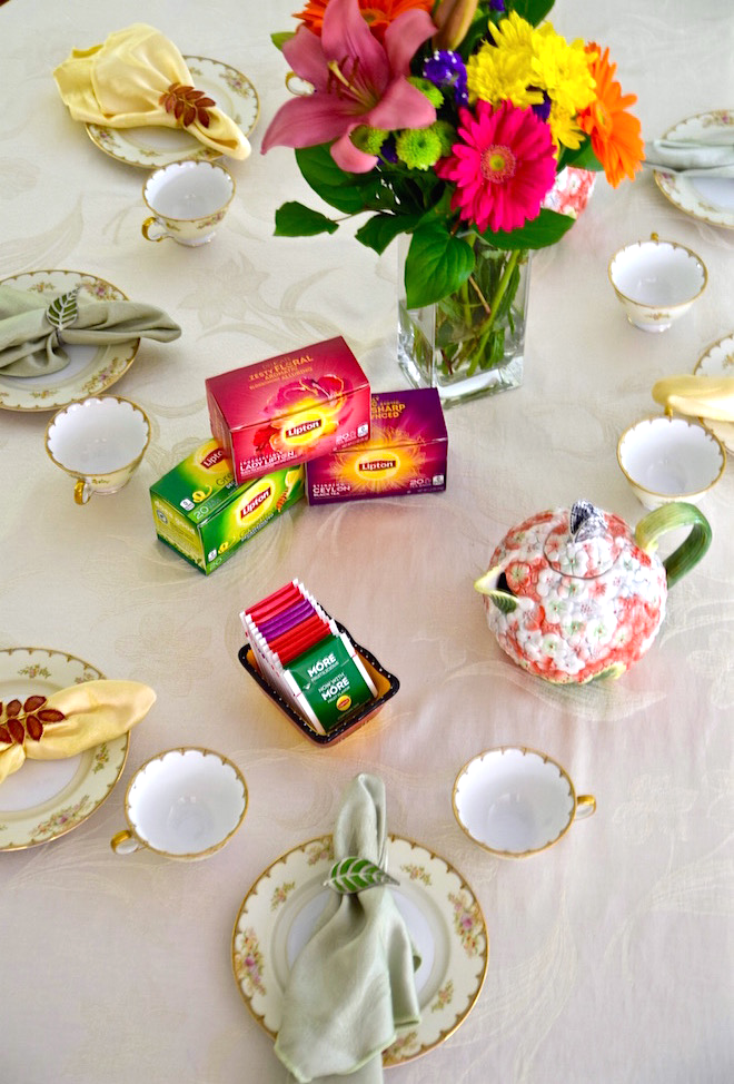 Tea Party table decorations | TastingPage.com