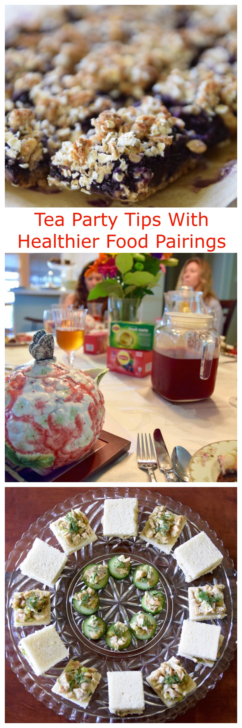Tea Party Tips with Healthier Food Pairings | TastingPage.com