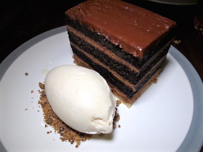 Charcoal Venice chocolate cake
