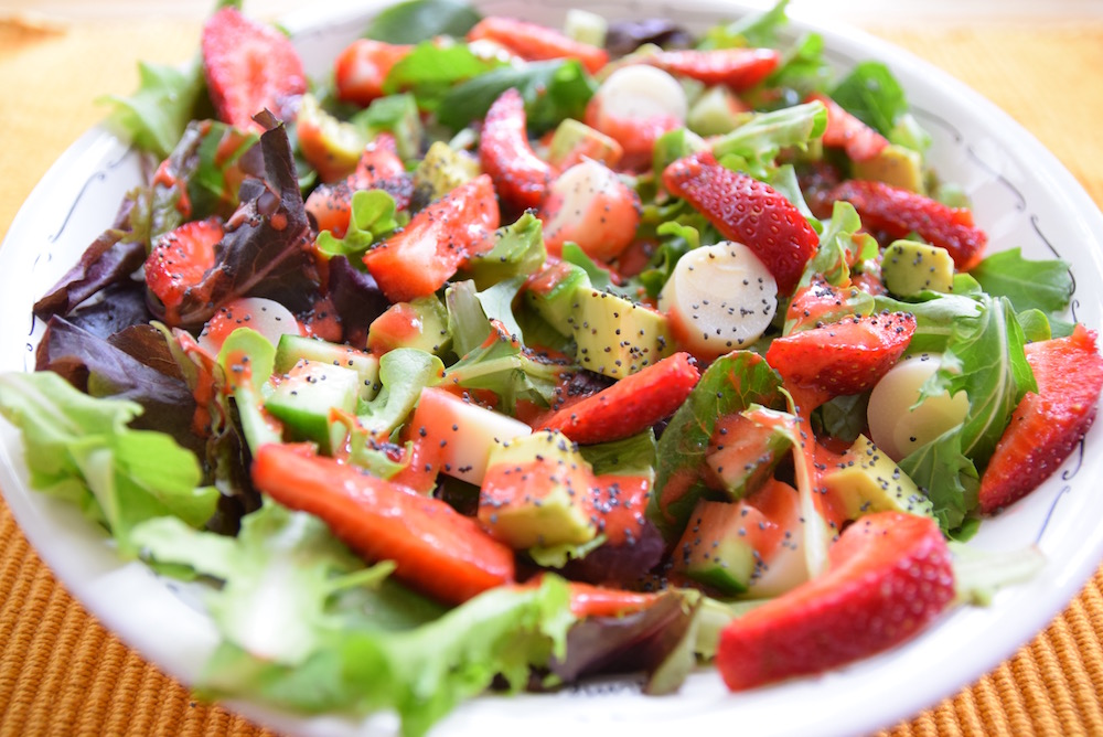 Heart of Palm Strawberry Summer Salad | TastingPage.com