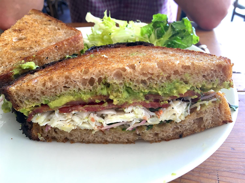 Dudley Market crab sandwich