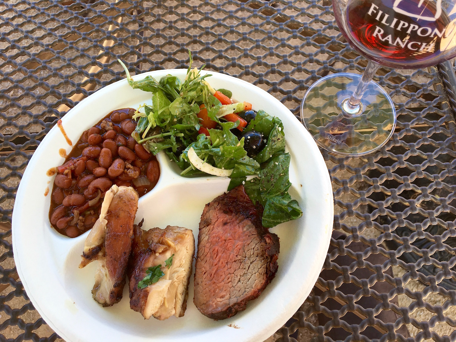 Filipponi Ranch BBQ and wine