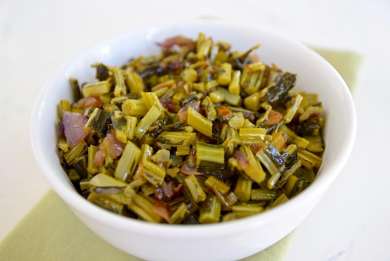 Sauteed Kale Stems   TastingPage.com
