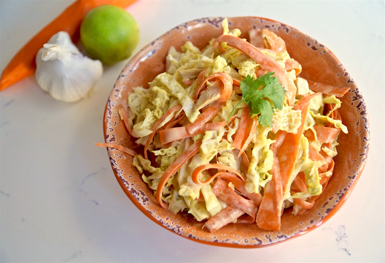 Nut-Free Thai Chicken Salad - gluten free and dairy free | TastingPage.com