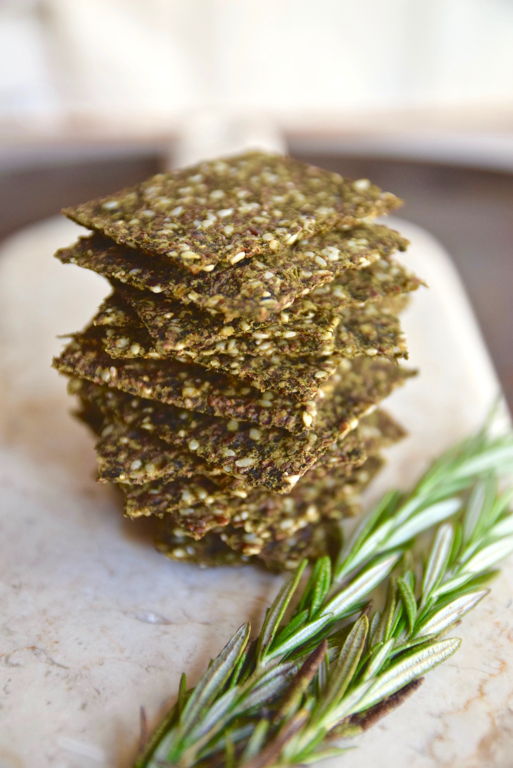 Kale Super Seed Crackers - gluten free and vegan crackers | TastingPage.com