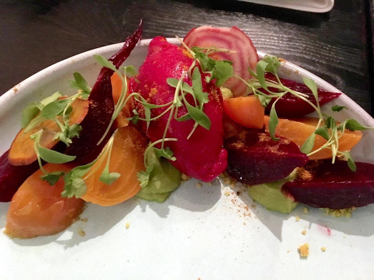 Erven Plant Based Restaurant Santa Monica beets   TastingPage.com