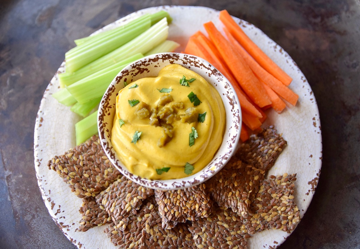 Vegan Cauliflower Queso in the Instant Pot - fast, delicious and healthy!   TastingPage.com