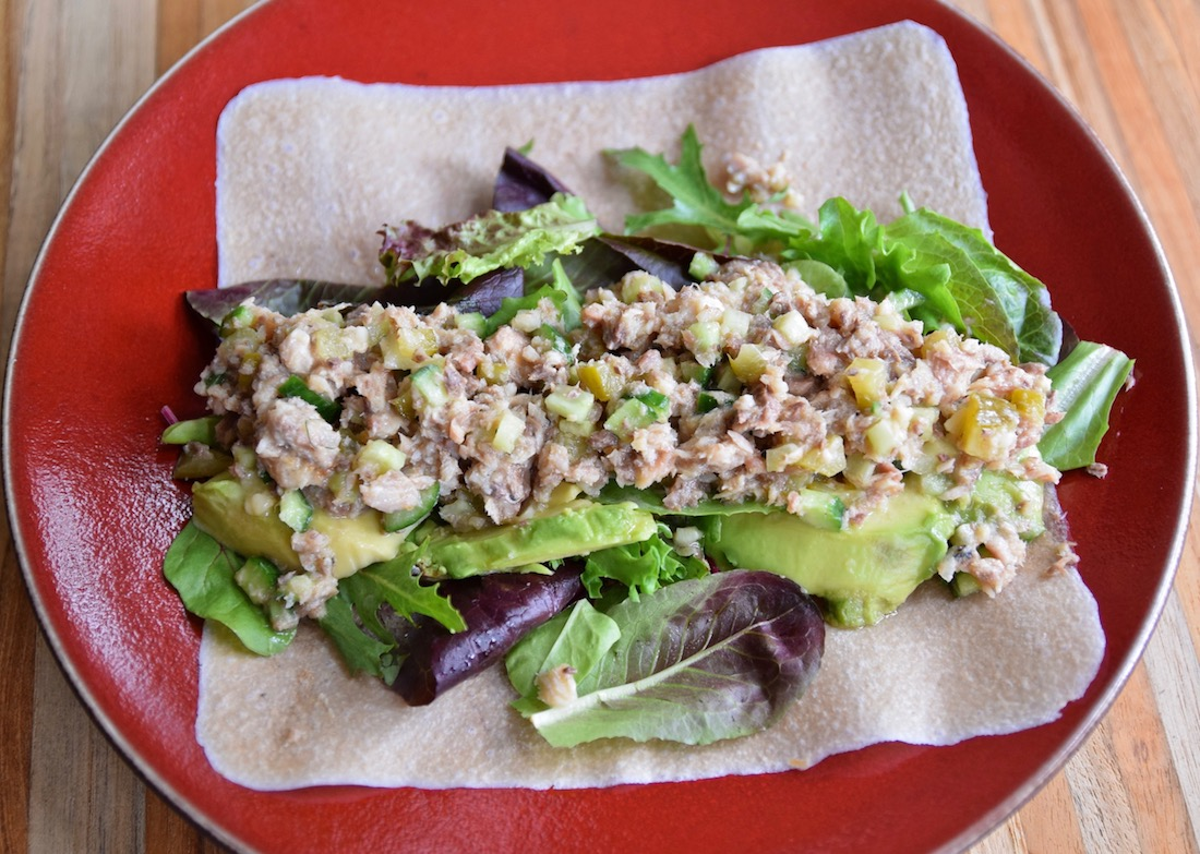 Sardine Salad Wraps - a healthy, inexpensive lunch option that's paleo, gluten free and dairy free | TastingPage.com