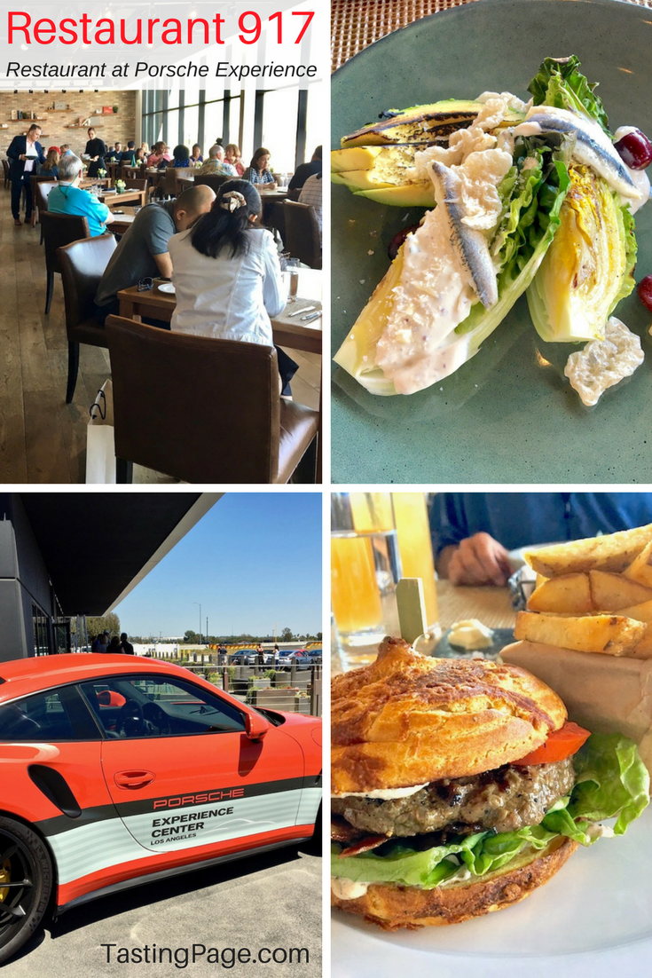 Restaurant 917 at the Porsche Driving Experience Center, Los Angeles CA | TastingPage.com