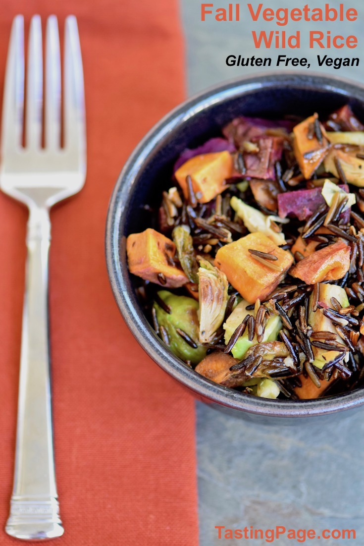 Fall Vegetable wild rice - gluten free and vegan side dish, or throw in your favorite protein for a whole meal | TastingPage.com