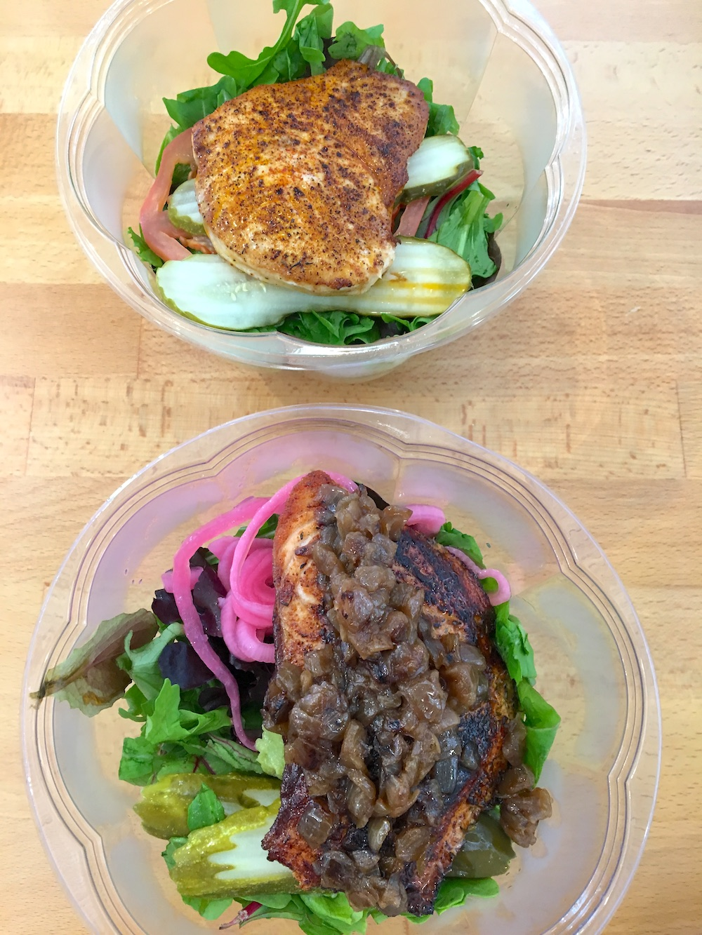 Strfsh fish salads from the Voltaggio Brothers in Santa Monica's 3rd Street Promenade | TastingPage.com