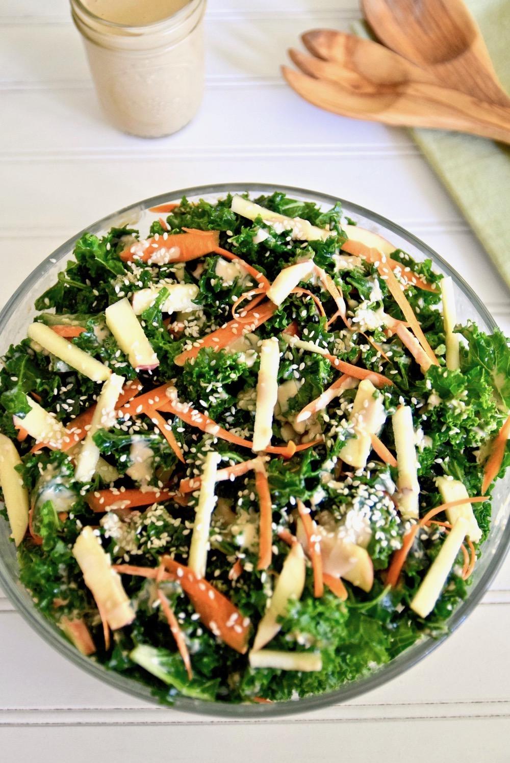 Thai coconut kale apple salad