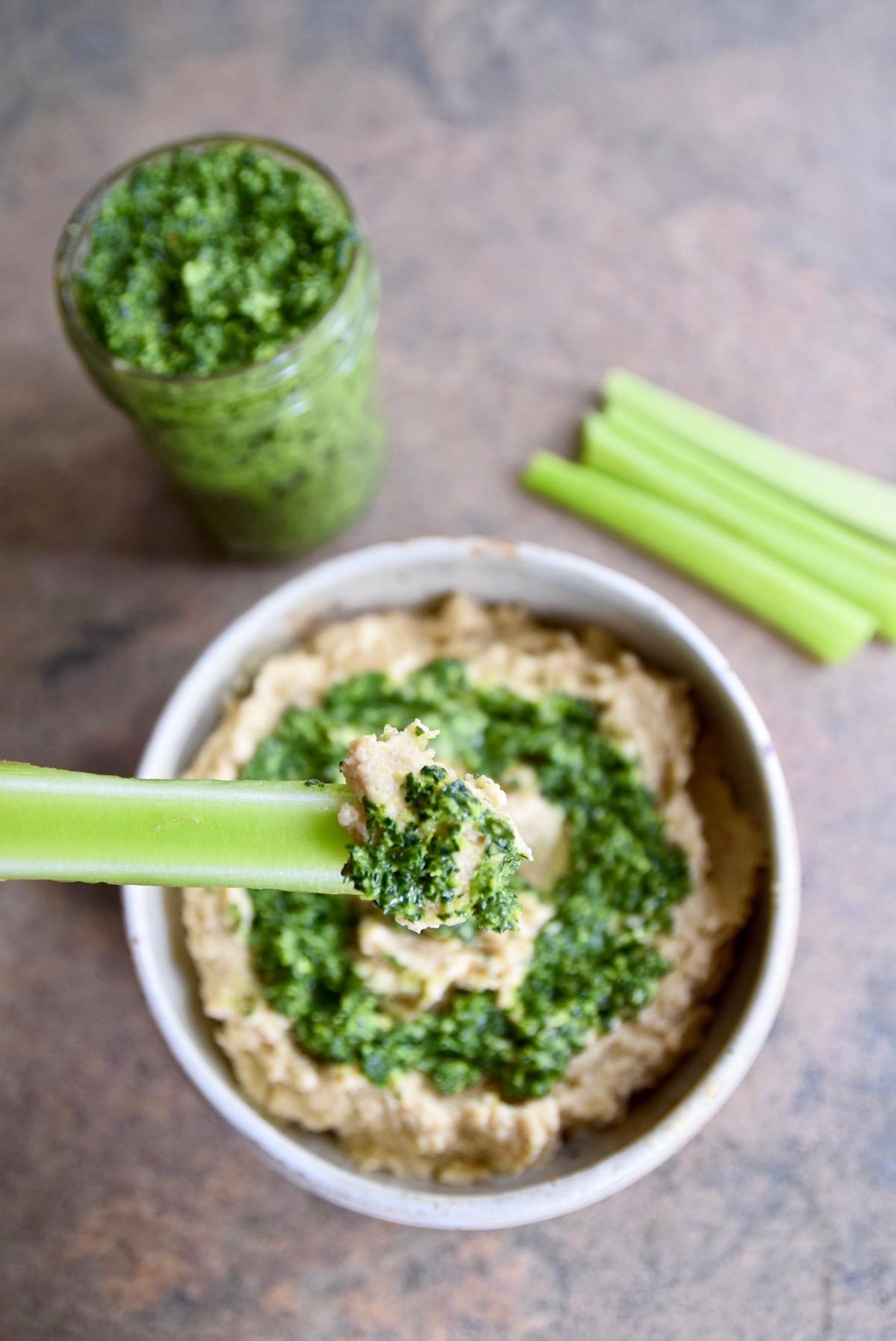 Cauliflower hummus with kale pesto.jpg