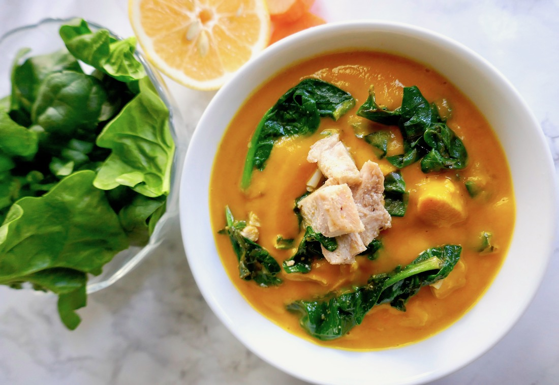 carrot chicken spinach soup instant pot
