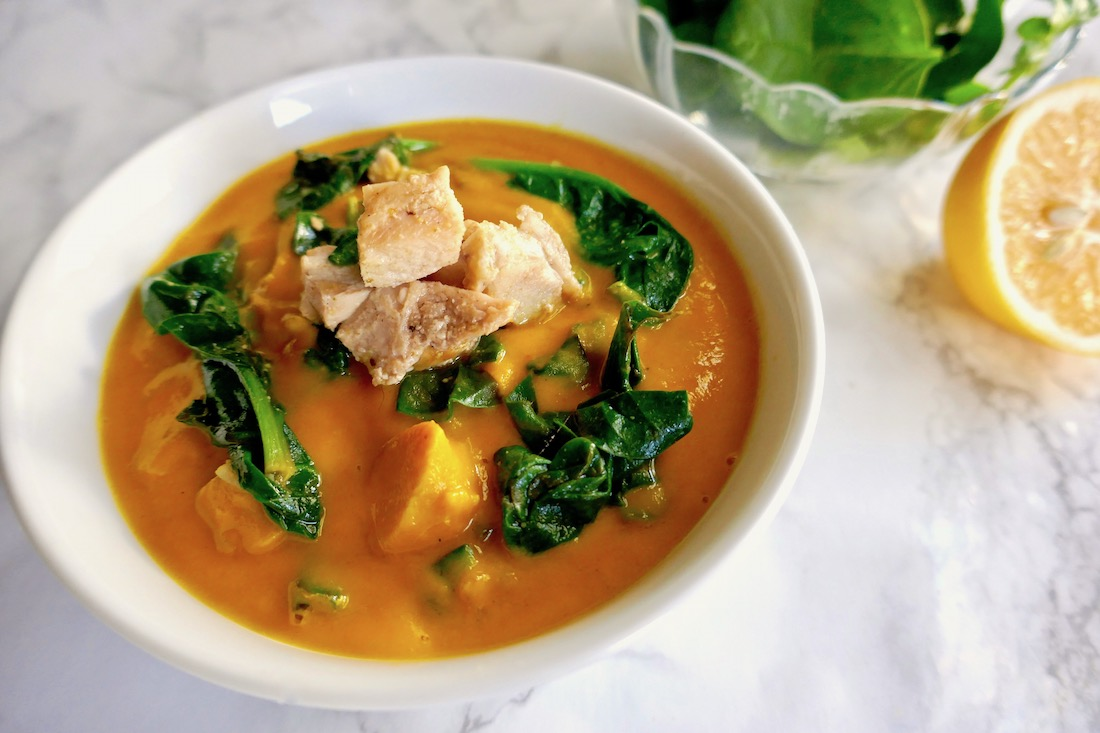 Chicken spinach carrot ginger soup.jpg