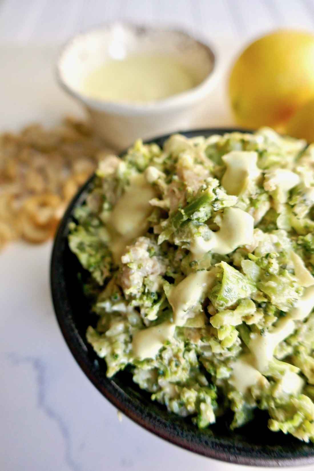 Curry broccoli chicken salad