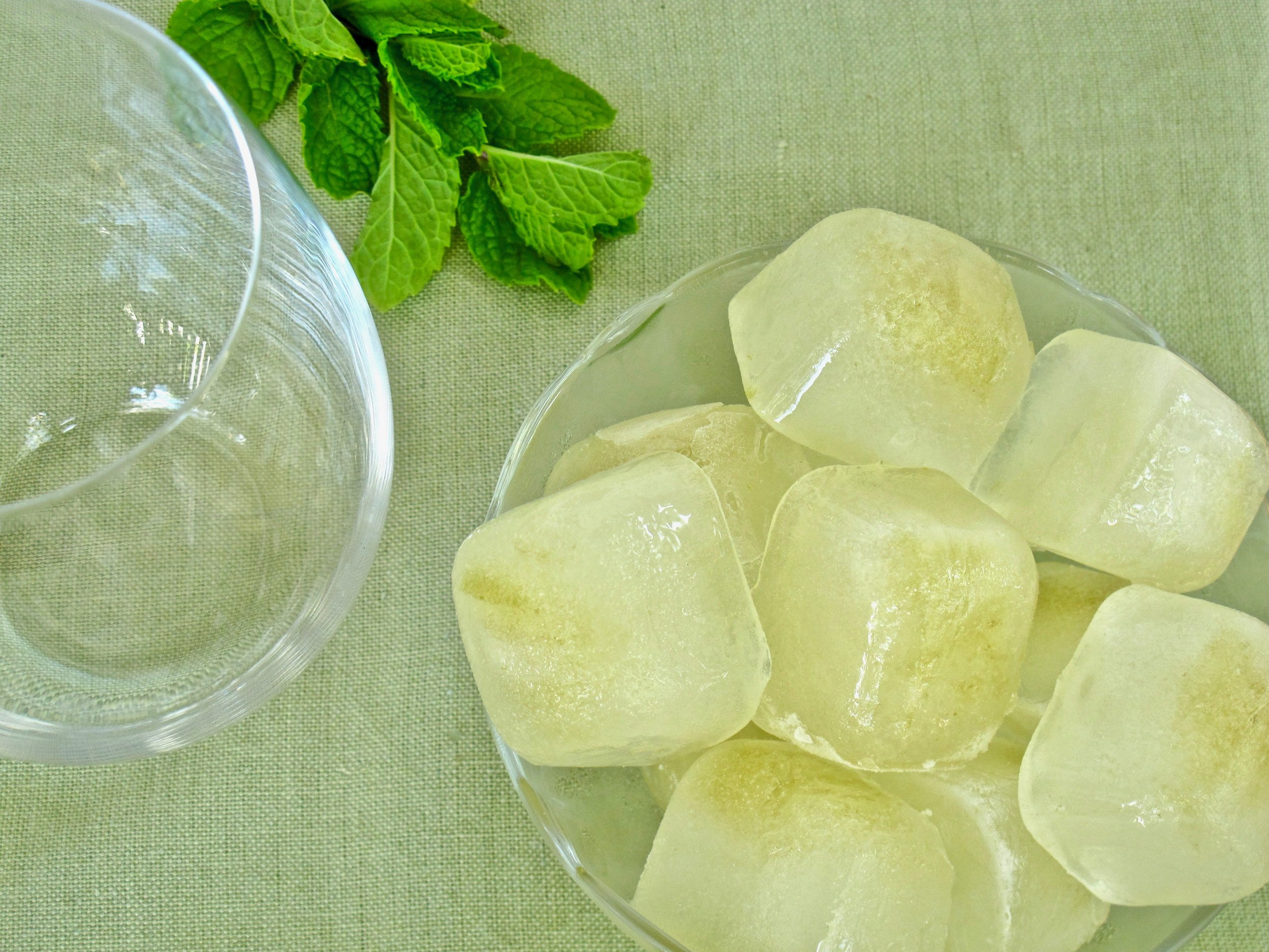 Hatch chile ice cubes