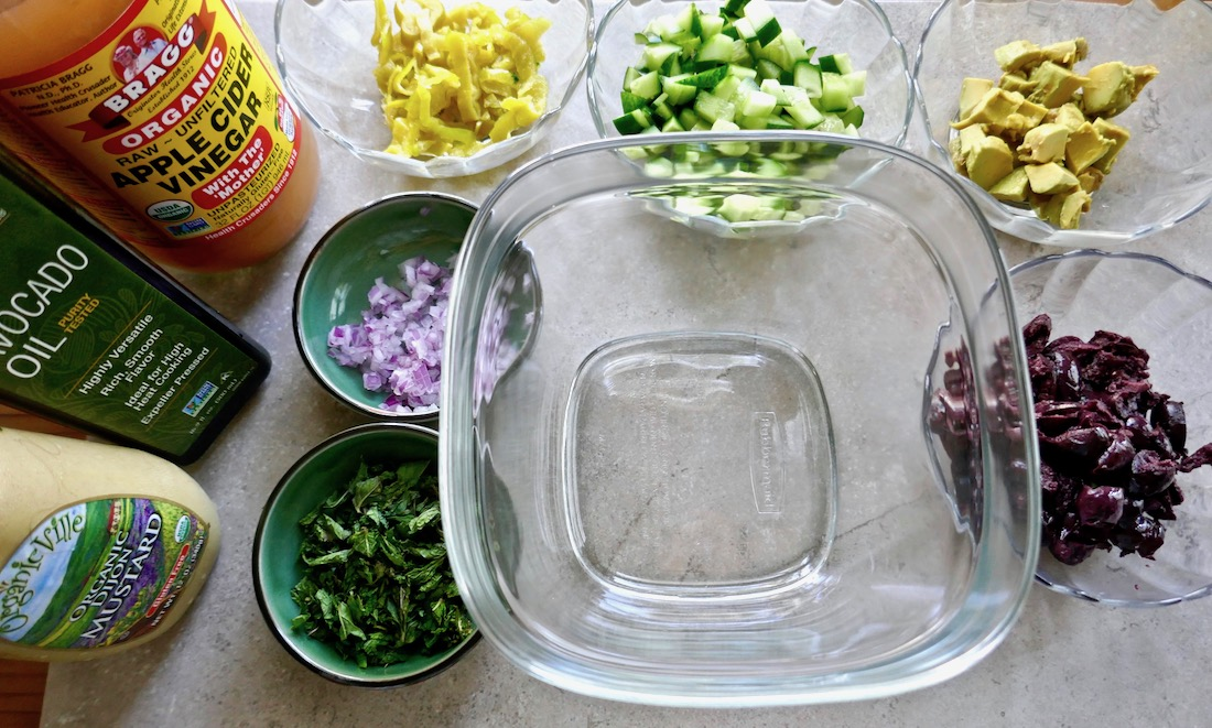jackfruit salad set up