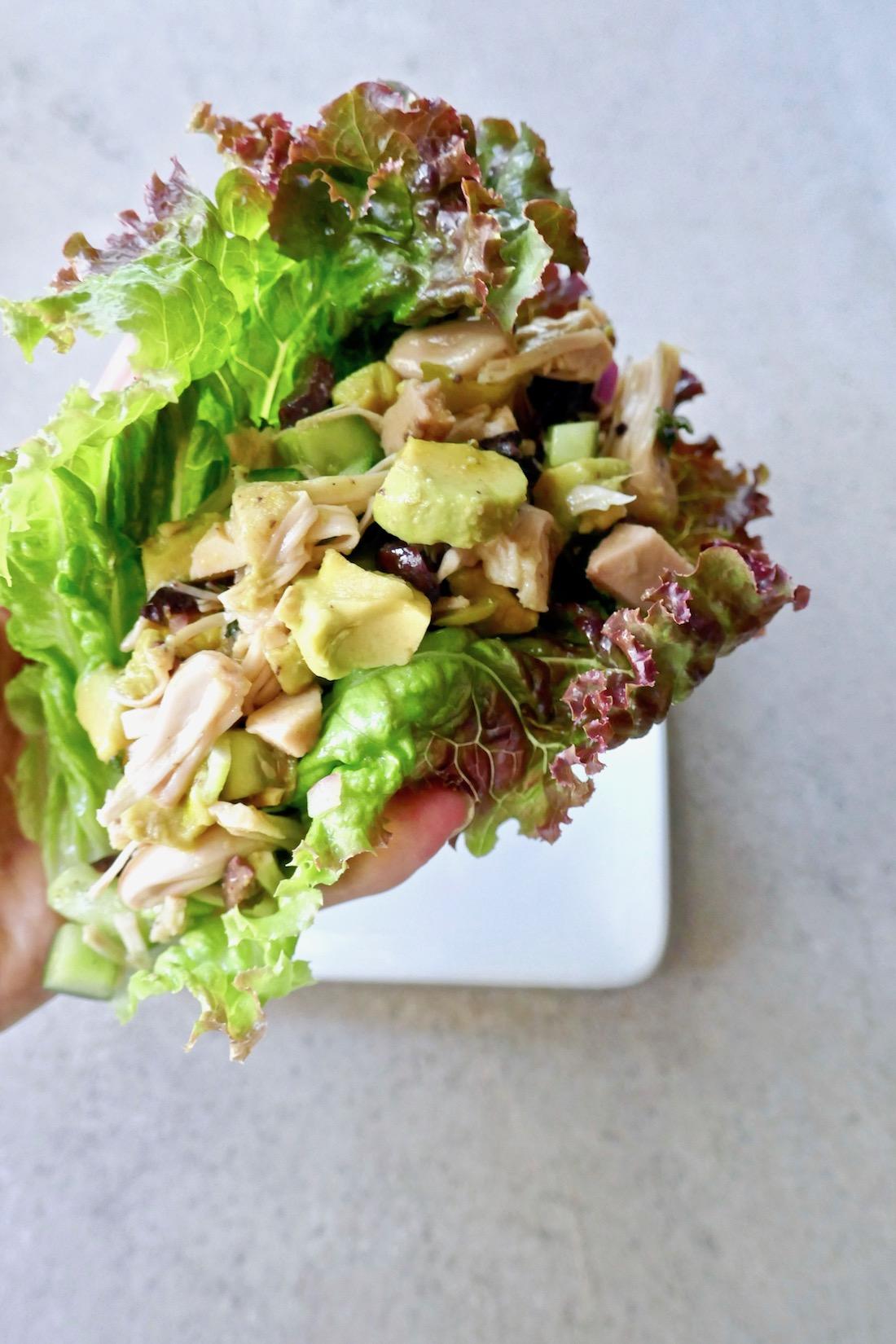 jackfruit salad wrap
