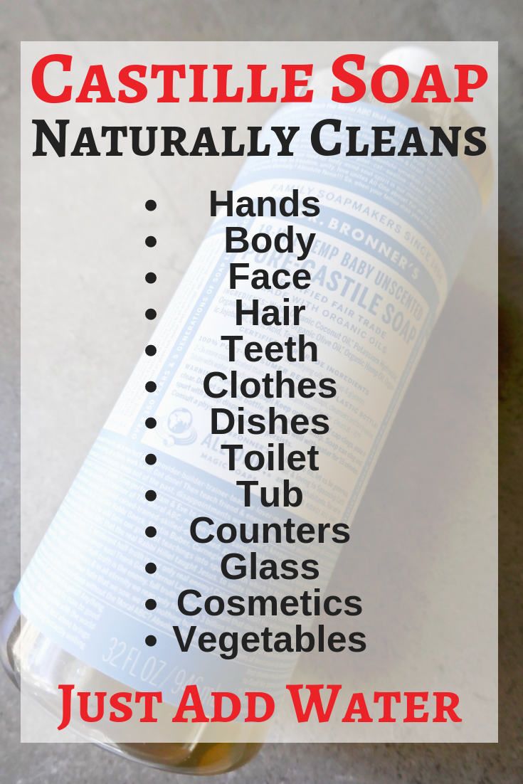 Save money and avoid toxins by using all natural Castile soap. You only need 2 ingredients to clean your body and home naturally and inexpensively | TastingPage.com #toxinfree #ecofriendly #castilesoap #naturalproducts #naturalcleaner #nontoxic #greenproducts #homemade #naturalhome