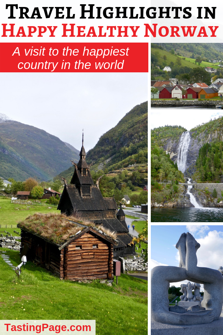 Norway has repeatedly been named both the happiest and the healthiest country in the world. Here are my travel highlights from happy healthy Norway | TastingPage.com #norway #healthytravel #travel #oslo #fjords #bergen #flaam