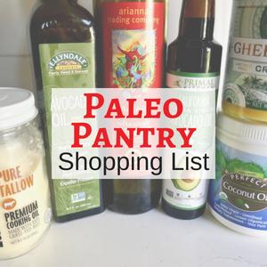 Paleo Pantry List