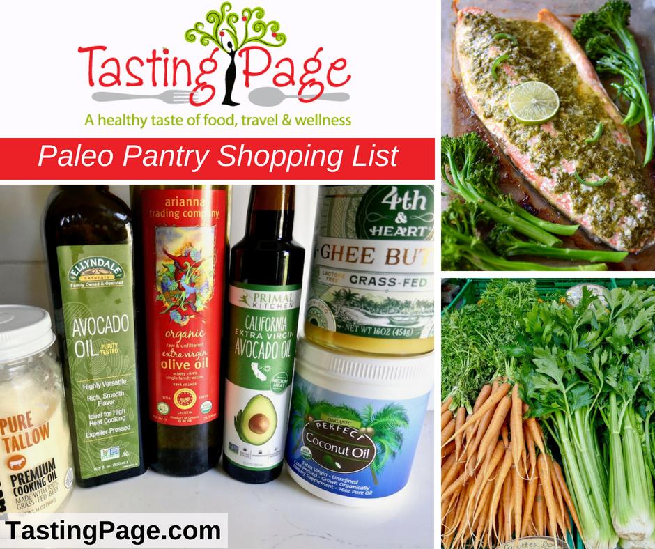 Paleo Pantry Shopping List
