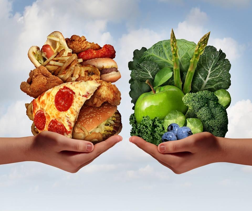 junk food vs vegetables