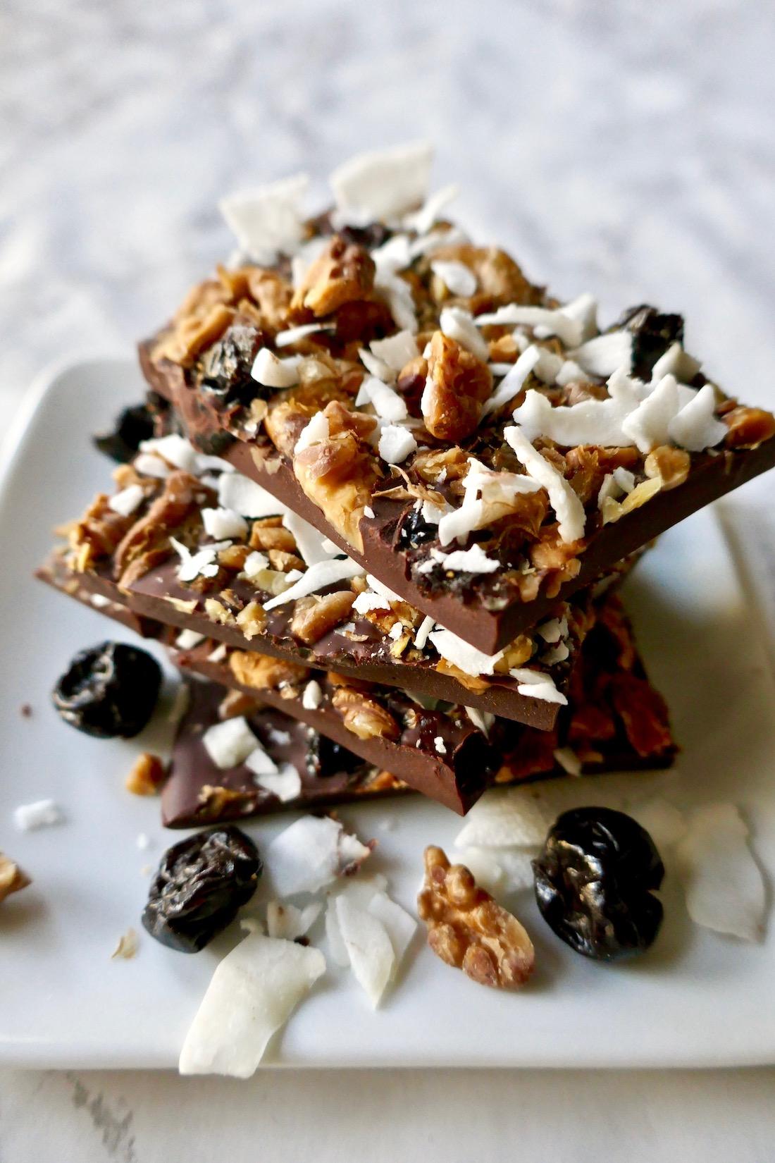 Chocolate Cherry Nut Bark