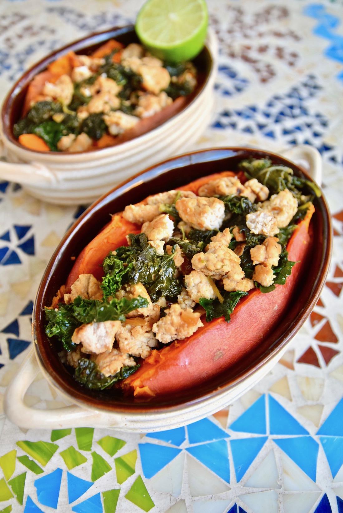 Ground turkey kale stuffed sweet potato.jpg