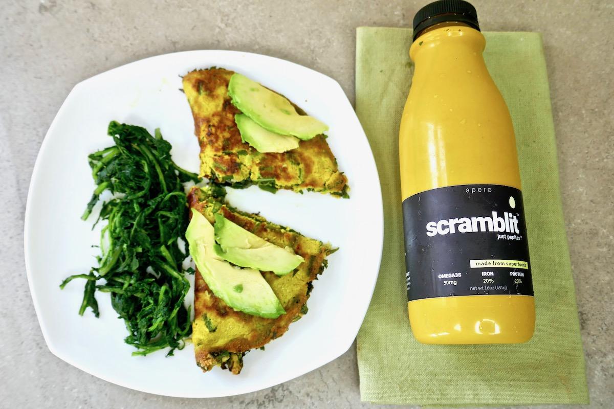 scramblit vegan egg omelet chickpea free soy free